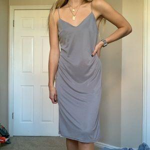 strappy grey slip on dress